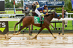 JULY 03, 2021: Truth Hurts, #5, ridden by Luis Saez, the Perfect Sting Stakes for fillies & mares, going 1 mile on turf, at Belmont Park in Elmont, New York. Sue Kawczynski/Eclipse Sportswire/CSM