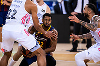 11th April 2021; Palau Blaugrana, Barcelona, Catalonia, Spain; Liga ACB Basketball, Barcelona versus Real Madrid; 22 Higgins of Barcelona during the Liga Endesa match