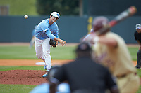 North Carolina Tar Heels relief pitcher Josh Hiatt (31) delivers a pitch to the plate against the Florida State Seminoles in the 2017 ACC Baseball Championship Game at Louisville Slugger Field on May 28, 2017 in Louisville, Kentucky. The Seminoles defeated the Tar Heels 7-3. (Brian Westerholt/Four Seam Images)