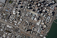 historical aerial photograph of Transbay, SOMA, San Francisco, California, 2010