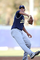 Chasen Ford participates in the Area Code Games at Blair Field on August 9, 2012 in Long Beach, California. (Larry Goren/Four Seam Images)
