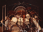 Clive Burr of Iron Maiden live in NY in 1982. Iron Maiden
