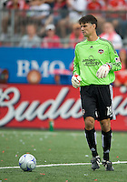 18 July 2009: Houston Dynamo goalkeeper Pat Onstad #18 in action during a game between the Toronto FC and Houston Dynamo..The game ended in a 1-1 draw..