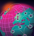 Illustrative representation of network globalization