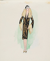 BNPS.co.uk (01202 558833)<br /> Pic: AuctionHub/BNPS<br /> <br /> Pictured: Spring 1928.<br /> <br /> A collection of fashion illustrations owned by Cecil Beaton have emerged for sale for £20,000.<br /> <br /> The drawings were given to the current seller, who has not been identified, by society and fashion photographer and costume designer Beaton as a thank you gift.<br /> <br /> Totalling over 500 designs from the 1920s and 30s, the illustrations have now been put up for auction with The Auction Hub, based in Westbury, Wiltshire.<br /> <br /> Cecil Beaton was an influential photographer, working for Vogue and Vanity Fair, as a war photographer, and taking society portraits of the Royal family and a host of celebrities.