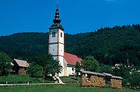 Slowenien. Kirche in Jereka