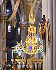April 10, 2021; Crucifix in the Basilica of the Sacred Heart (Photo by Matt Cashore/University of Notre Dame)