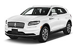 2021 Lincoln Nautilus Standard 5 Door SUV Angular Front automotive stock photos of front three quarter view