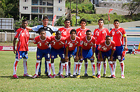 Costa Rica lines up during the group stage of the CONCACAF Men's Under 17 Championship at Jarrett Park in Montego Bay, Jamaica. Costa Rica defeated El Salvador, 3-2.