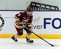 WORCESTER, MA - JANUARY 16: Jillian Fey #13 of Boston College brings the puck forward during a game between Boston College and Holy Cross at Hart Center Rink on January 16, 2021 in Worcester, Massachusetts.
