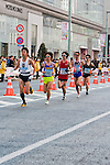 Feb. 27, 2010 - Tokyo, Japan - A pack of runners race through the Ginza district shortly after the start of the Tokyo Marathon. Some 36,000 runners participated in this fifth edition of the marathon.