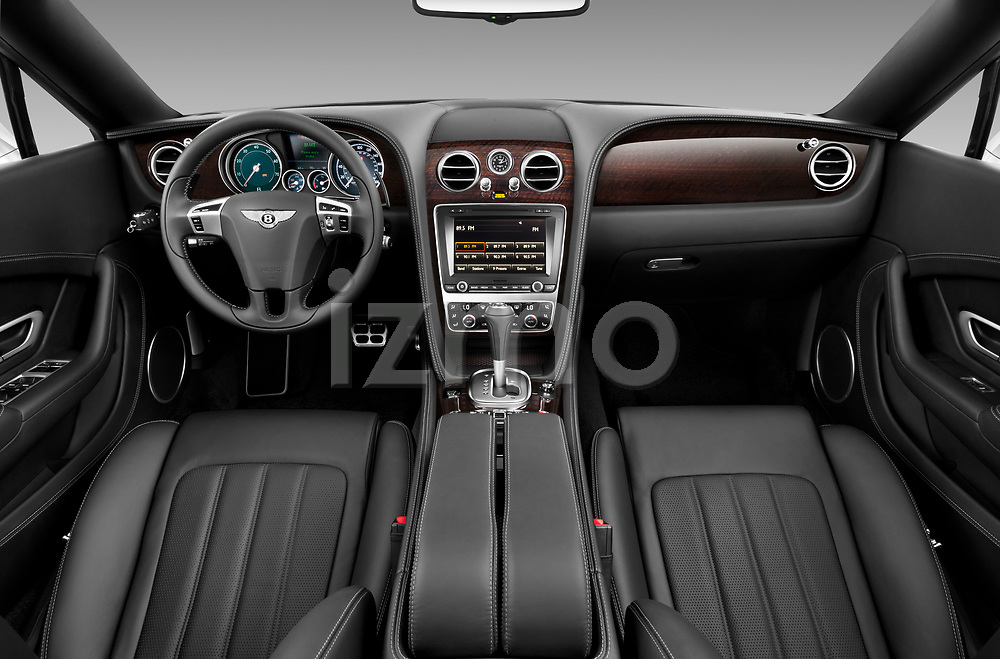 Straight dashboard view of a 2013 - 2014 Bentley Continental GTC Convertible.