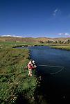 Fly fishing on the Beaverhead River, Montana