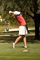 SAN ANTONIO, TX - OCTOBER 22: The Univeristy of Texas at San Antonio Roadrunners Women's Golf Fall Qualifier at San Antonio Country Club. (Photo by Jeff Huehn)