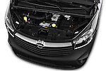 High Angle Engine Detail of 2015 Opel Vivaro Edition 4 Door Cargo Van 2WD Stock Photo