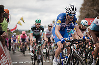 Pieter SERRY (BEL/Deceuninck-Quick Step) up the infamous Mur de Huy<br /> <br /> 83rd La Flèche Wallonne 2019 (1.UWT)<br /> One day race from Ans to Mur de Huy (BEL/195km)<br /> <br /> ©kramon