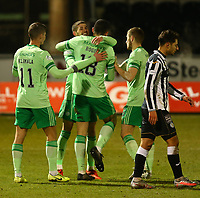 10th February 2021; St Mirren Park, Paisley, Renfrewshire, Scotland; Scottish Premiership Football, St Mirren versus Celtic; Ryan Christie of Celtic celebrates after he makes it 3-0 to Celtic in the 82nd minute