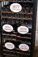 old bottles in the cellar old vintages ferreira port lodge vila nova de gaia porto portugal