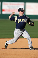 February 26, 2010:  Third Baseman Frank Desico of the Notre Dame Fighting Irish during the Big East/Big 10 Challenge at Jack Russell Stadium in Clearwater, FL.  Photo By Mike Janes/Four Seam Images