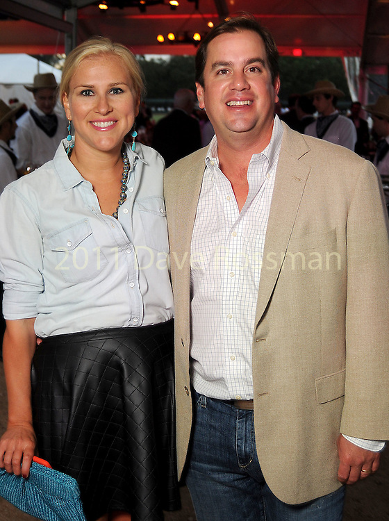 Helena and Greg Mendez at the Nature Conservancy's Nature Rocks  Gala at the Houston Polo Club Thursday Oct. 22,2015.(Dave Rossman photo)