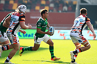 9th October 2021; Brentford Community Stadium, Brentford, London; Gallagher Premiership Rugby, London Irish versus Leicester Tigers; Nick Phipps of London Irish breaks with the ball