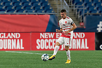 FOXBOROUGH, MA - AUGUST 21: Matt Bolduc #7 of Richmond Kickers passes the ball during a game between Richmond Kickers and New England Revolution II at Gillette Stadium on August 21, 2020 in Foxborough, Massachusetts.