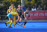 NZ's Kelsey Smith during the Sentinel Homes Trans Tasman Series hockey match between the New Zealand Black Sticks Women and the Australian Hockeyroos at Massey University Hockey Turf in Palmerston North, New Zealand on Sunday, 30 May 2021. Photo: Dave Lintott / lintottphoto.co.nz