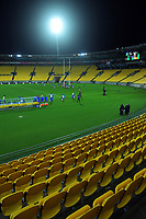 An empty stadium during the international rugby match between Manu Samoa and the Maori All Blacks at Sky Stadium in Wellington, New Zealand on Saturday, 26 June 2021. Photo: Dave Lintott / lintottphoto.co.nz