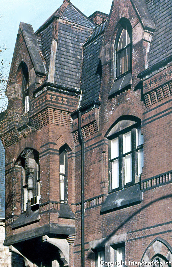 Frank Furness: Hockley House. Upper stories--detail.  Photo '78.