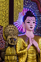 Buddha Showing Mudra (Gesture), Dhammikarama Burmese Buddhist Temple, George Town, Penang, Malaysia.