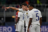 Benjamin Pavard and Jules Kounde of France talk during the Uefa Nations League final football match between Spain and France at San Siro stadium in Milano (Italy), October 10th, 2021. Photo Andrea Staccioli / Insidefoto