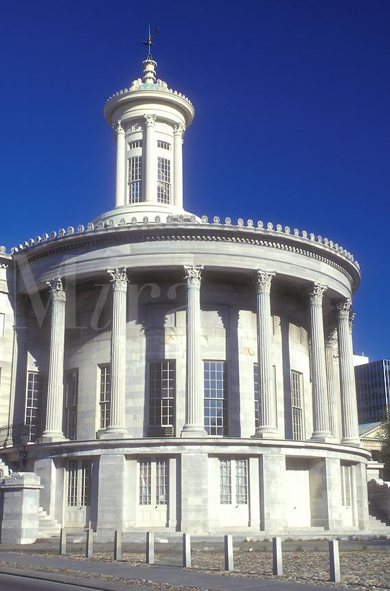 AJ1151, Philadelphia, Pennsylvania, Independence National Historic Park, The Philadelphia (Merchant) Exchange, a 1834 Greek Revival masterpiece, it later housed the Philadelphia Stock Exchange.
