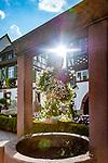 Germany, Baden-Wurttemberg, Black Forest, Gengenbach: fountain at old town centre | Deutschland, Baden-Wuerttemberg, Schwarzwald, Gengenbach im Ortenaukreis: Brunnen im Stadtzentrum