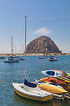 Morro Rock is the definitive feature of famous Morro Bay,California at the south end of the Big Sur coastline and center the California Central Coast.