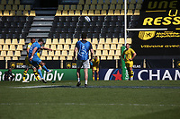 2nd May 2021; Stade Marcel-Deflandre, La Rochelle, France. European Champions Cup Rugby La Rochelle versus  Leinster Semi-Final; Ross BYRNE of LEINSTER RUGBY kicks a penlty conversion