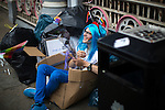 © Joel Goodman - 07973 332324 . 27/08/2016 . Manchester , UK . Preparations ahead of the annual Pride Parade through Manchester City Centre as part of Manchester Gay Pride's Big Weekend . Photo credit : Joel Goodman