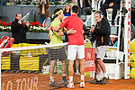 Japanese Kei Nishikori Serbian Novak Djokovic during ATP Semi-Finals Mutua Madrid Open Tennis 2016 in Madrid, May 07, 2016. (ALTERPHOTOS/BorjaB.Hojas)