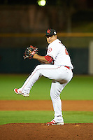 Scottsdale Scorpions pitcher Eduardo Paredes (40), of the Los Angeles Angels of Anaheim organization, during a game against the Salt River Rafters on October 12, 2016 at Scottsdale Stadium in Scottsdale, Arizona.  Salt River defeated Scottsdale 6-4.  (Mike Janes/Four Seam Images)