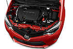 Car Stock 2016 Toyota Corolla LE Plus 4 Door Sedan Engine high angle detail view