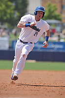 Tulsa Drillers first baseman Paul Hoenecke (14) runs to third base during a game against the Arkansas Travelers at Oneok Field on May 22, 2017 in Tulsa, Oklahoma.  Arkansas won 5-4.  (Dennis Hubbard/Four Seam Images)
