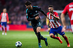 Alvaro Morata (r) of Chelsea FC is followed by Jorge Resurreccion Merodio, Koke, of Atletico de Madrid during the UEFA Champions League 2017-18 match between Atletico de Madrid and Chelsea FC at the Wanda Metropolitano on 27 September 2017, in Madrid, Spain. Photo by Diego Gonzalez / Power Sport Images