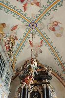 Barocke Innenaussattung von St. Johannes in Rerik, Mecklenburg-Vorpommern, Deutschland