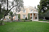 """Classic, luxury villa but far from conventional, the house is like a """"French palace"""" of 1000 sq.m in the heart of Athens, shows clearly the hostess's love of art."""