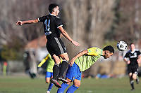 Action from the Southern Football League between Cashmere Technical and Coastal Spirit at Garrick Memorial Park in Christchurch, New Zealand on Saturday, 24 July 2021. Photo: Martin Hunter / lintottphoto.co.nz