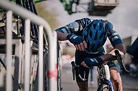 post-finishline-exhaustion<br /> <br /> 35th Tro Bro Leon 2018<br /> 1 Day Race: Le Carpont - Lannilis (FRA/203km)