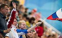 Supporters of MALTSEV Aleksander and VALITOVA Darina Team RUS <br /> Synchro - Mixed Duet technical preliminaries<br /> Day 02 25/07/2015<br /> XVI FINA World Championships Aquatics Swimming<br /> Kazan Tatarstan RUS July 24 - Aug. 9 2015 <br /> Photo Giorgio Perottino/Deepbluemedia/Insidefoto