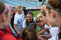 Jacksonville, FL - Thursday April 5, 2018: Alex Morgan, USWNT during an International friendly match versus the women's National teams of the United States (USA) and Mexico (MEX) at EverBank Field.