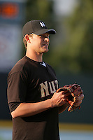 April 14, 2010: Ryan Peisel of the Modesto Nuts before game against the Rancho Cucamonga Quakes at The Epicenter in Rancho Cucamonga,CA.  Photo by Larry Goren/Four Seam Images