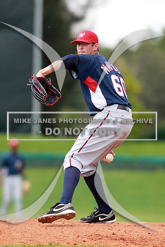 Washington Nationals minor league pitcher Ryan Mattheus during a game vs. the Chinese National Team in an Instructional League game at Holman Stadium in Vero Beach, Florida September 30, 2010.   Photo By Mike Janes/Four Seam Images