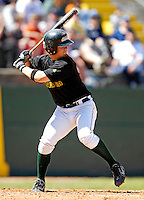 21 April 2007: University of Vermont Catamounts' Jeff Heppner, a Sophomore from Riverhead, NY, in action against the University of Hartford Hawks at Historic Centennial Field, in Burlington, Vermont. ..Mandatory Photo Credit: Ed Wolfstein Photo